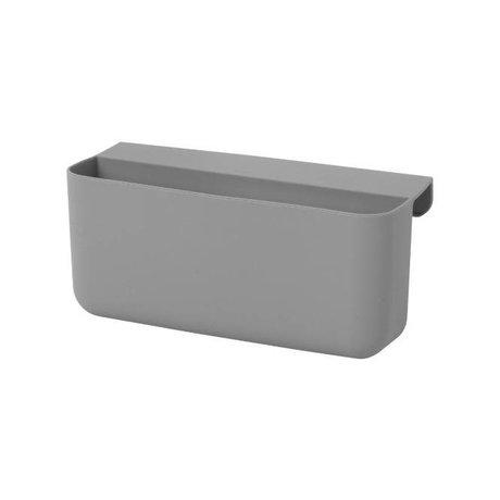 Ferm Living Poco bolsas Arquitecto gris siliconas L 16,5x8,5x10cm