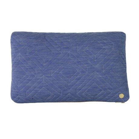 Ferm Living Kissen Quilt hellblau Textil-40x25cm