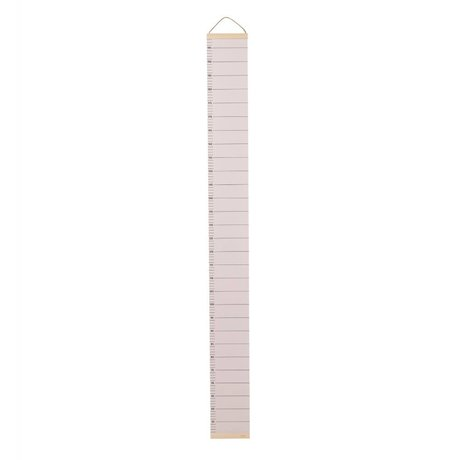Ferm Living Bar bois papier rose 15x1,5x122cm