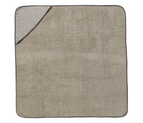 Ferm Living Baby hætteklædte håndklæde Sento grå økologisk bomuld 98x98cm