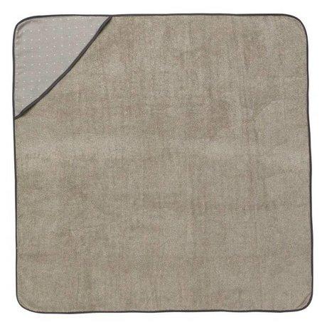 Ferm Living serviette Sento bébé à capuchon en coton gris 98x98cm