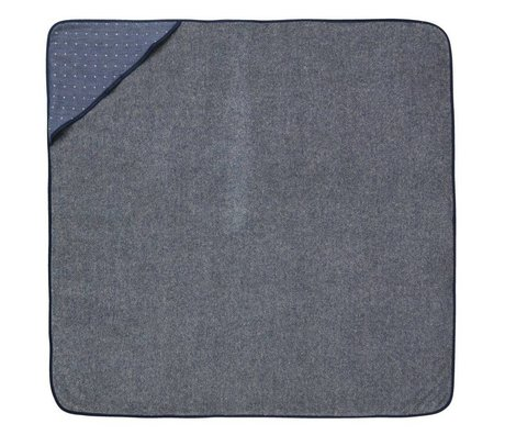 Ferm Living asciugamano bambino con cappuccio blu Sento 98x98cm in cotone biologico