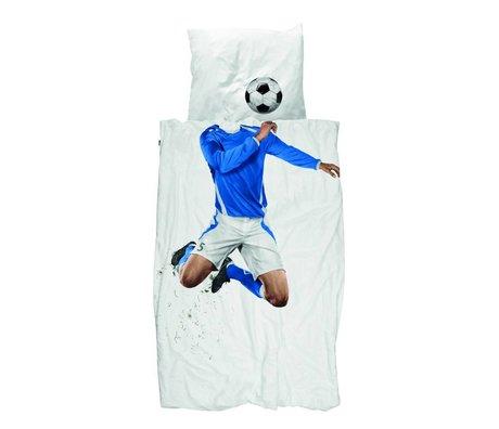 Snurk Keten Futbol Champ mavi pamuklu 140x200 / 220cm