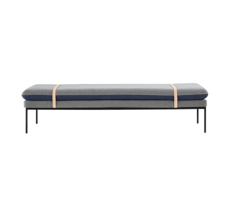 Ferm Living Bank Turn Daybed blau grau Textil 190x42x80cm