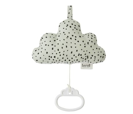 Ferm Living Music Mobile Cloud mintgrün Baumwolle 16x10cm
