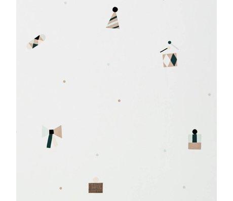 Ferm Living Wallpaper party multicolor paper 10x0.53m