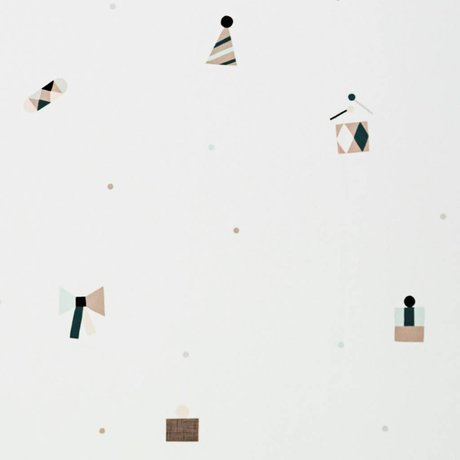 Ferm Living Duvar kağıdı parti renkli kağıt 10x0,53m