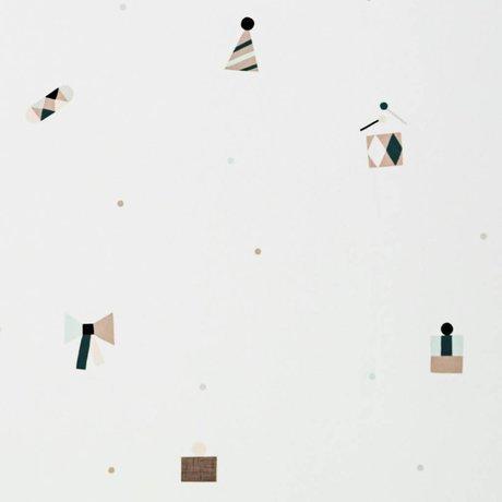 Ferm Living Tapete Party multicolor papier 10x0,53m
