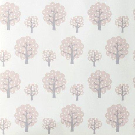 Ferm Living Tapete Dotty rosa grau Papier 10x0,53m
