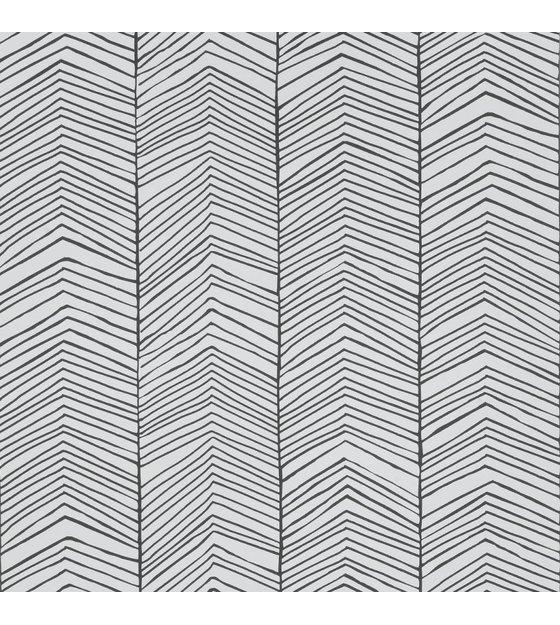 ferm living tapete herringbone schwarz wei papier 10x0. Black Bedroom Furniture Sets. Home Design Ideas