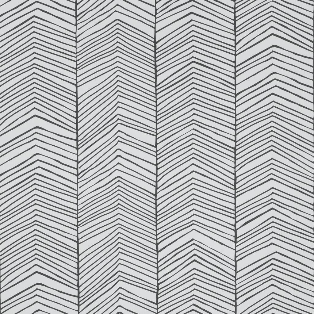 ferm living tapete herringbone schwarz wei papier 10x0 53m. Black Bedroom Furniture Sets. Home Design Ideas