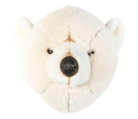 Wild and Soft Animal bear Basile white textile 31x32x30cm