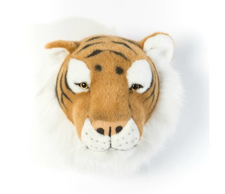 Wild and Soft Tier Tiger Felix braun Textil 27x22x23cm