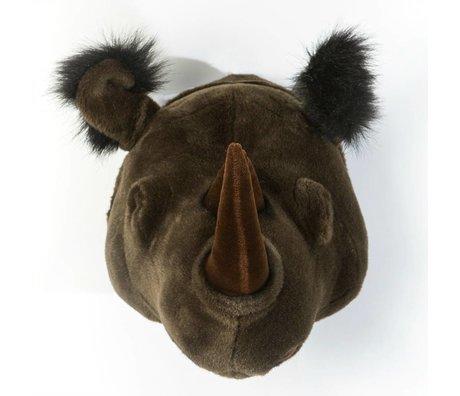 Wild and Soft Animal black rhino Michael textile 35x34x30cm