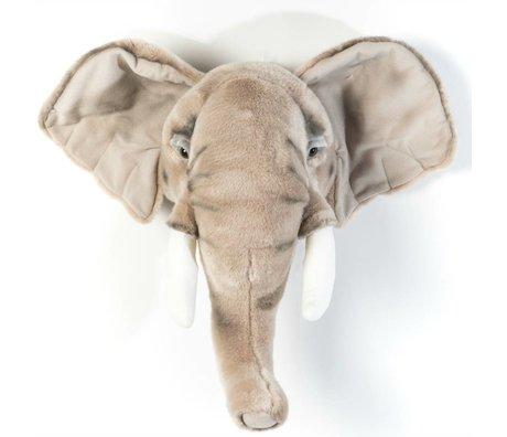 Wild and Soft Animal éléphant gris George textile 44x59x25cm
