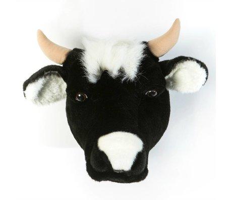 Wild and Soft Animal cow Daisy black textile 33x40x30cm