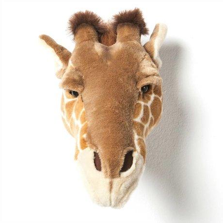 Wild and Soft girafe animal Ruby brun textile 34x19x28cm
