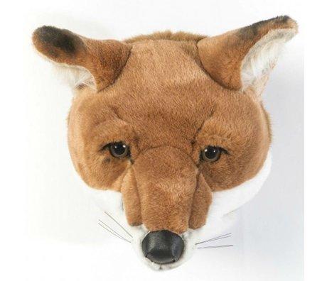 Wild and Soft fox animale Louis brun et blanc textile 26x29x28cm