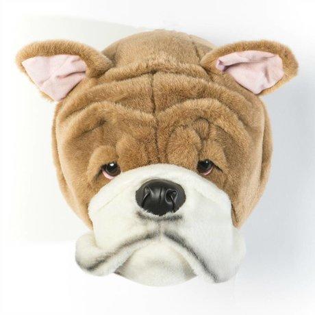 Wild and Soft Tier Englische Bulldogge Matthew braun und weiß Textil 28x18x29cm