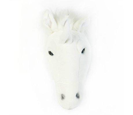 Wild and Soft Animal blanc licorne Claire textile 37x18x35cm