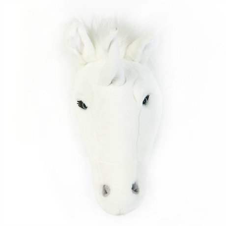 Wild and Soft Animal blanc licorne Claire textile 37x18x35cm