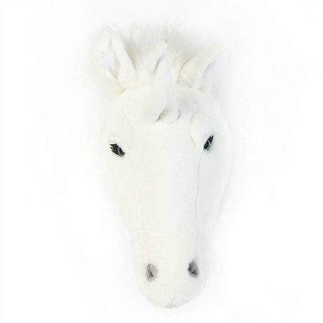 Wild and Soft Animal white unicorn Claire textile 37x18x35cm