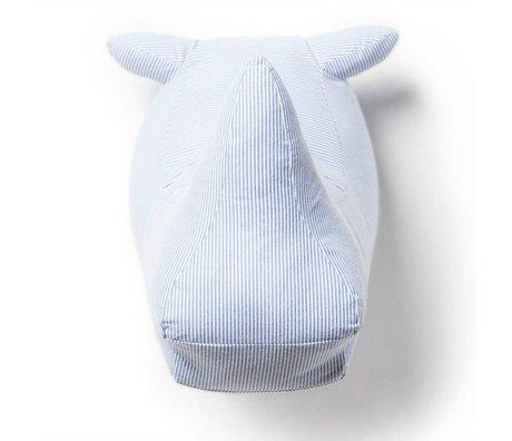 Wild and Soft Animal Abstract white rhino Joseph textile 35x25x30cm