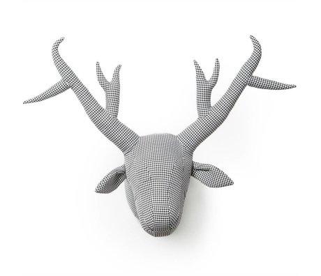 Wild and Soft Animal Abstrakt pied-de-joule James Gray tekstil 40x50x60cm