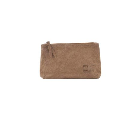 Housedoctor Make-up-Tasche Nomadic Kraft Oliven 20x12x3,5cm
