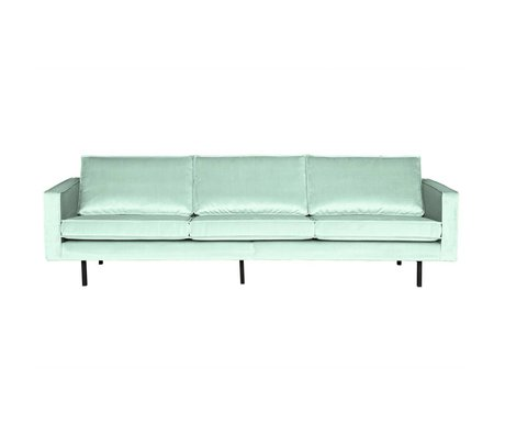 BePureHome 3-plazas sofá Rodeo menta 78x274x87cm terciopelo verde