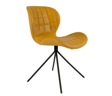 Zuiver Dining chair OMG LL yellow Artificial leather 51x56x80cm