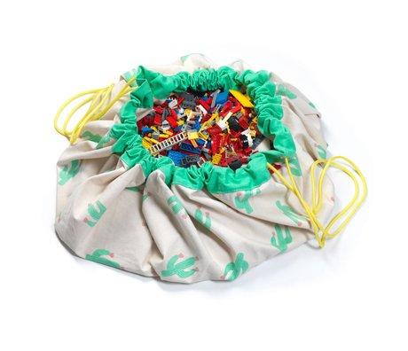 Play & Go Sac de rangement / playmat cactus édition limitée Ø140cm coton multicouleur
