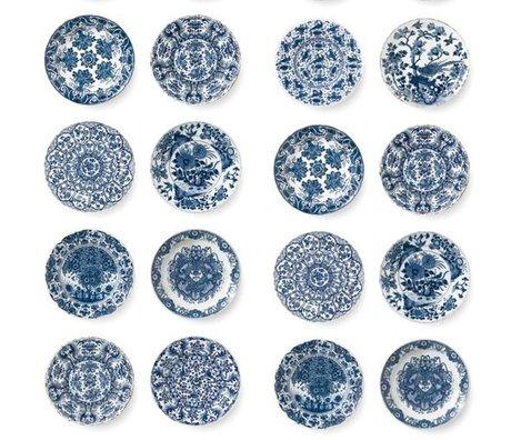 Kek Amsterdam Kongeblå tapet blå fleece paptallerkener 97,4x280cm