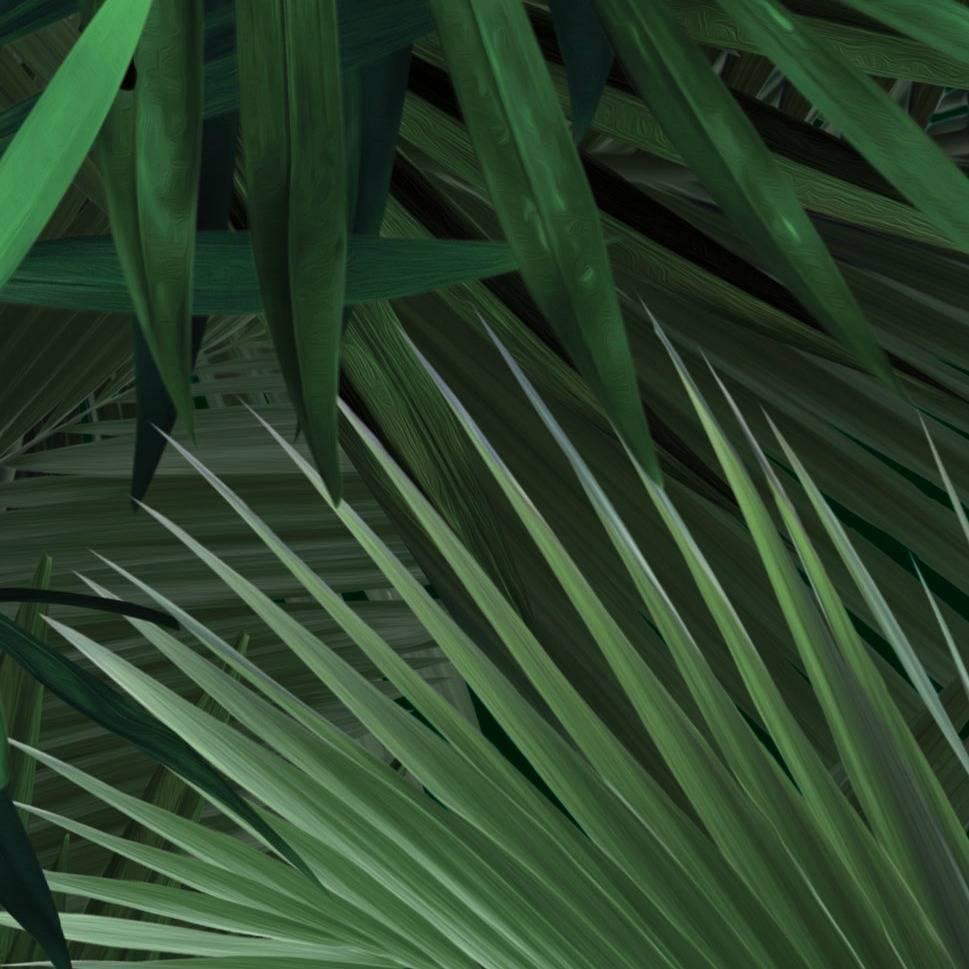 kek amsterdam wallpaper tropical palm leaf green non woven paper 97 4x280cm