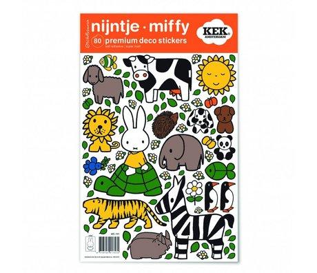 Kek Amsterdam Wall Sticker Miffy amanti degli animali multicolore vinile S 21x33cm