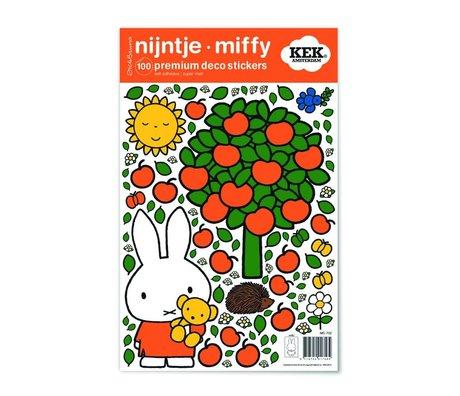 Kek Amsterdam Wandaufkleber Miffy Apfel bunte Vinylfolie S 21x33cm