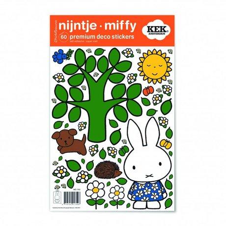 Kek Amsterdam Wall Sticker Miffy grande albero multicolore vinile S 21x33cm