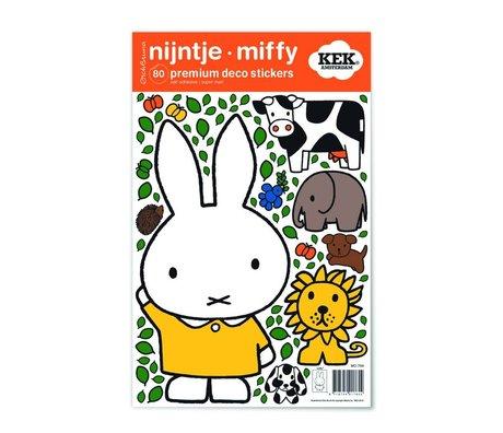 Kek Amsterdam Etiqueta de la pared Miffy vestido amarillo multicolor de vinilo S 21x33cm