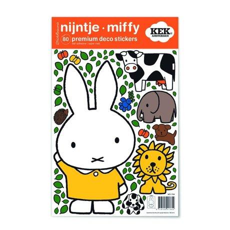 Kek Amsterdam Duvar Sticker Miffy sarı elbise çok renkli vinil S 21x33cm