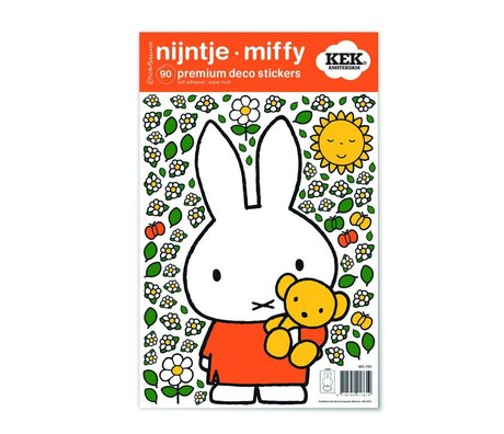 Kek Amsterdam Wall Sticker Miffy Teddy bunte vinyl S 21x33cm