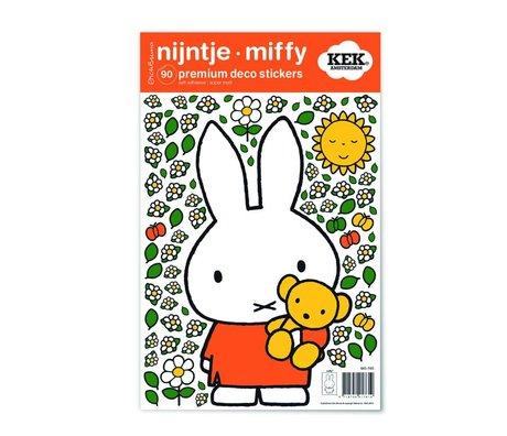 Kek Amsterdam Wandaufkleber Miffy Teddy bunte Vinylfolie S 21x33cm