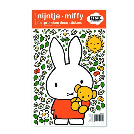Kek Amsterdam Duvar Plaka Miffy Teddy bunte vinil S 21x33cm