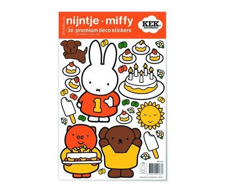 Kek Amsterdam Wandaufkleber Miffy feiert bunte Vinylfolie S 21x33cm