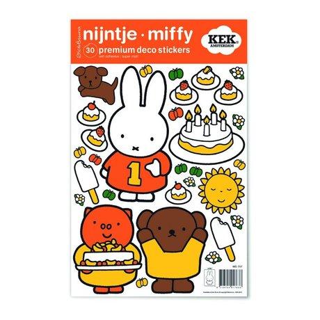 Kek Amsterdam Duvar Sticker Miffy renkli vinil S 21x33cm kutluyor