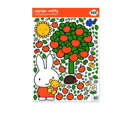 Kek Amsterdam Wall Sticker Miffy mela vinile colorato M 42x59cm