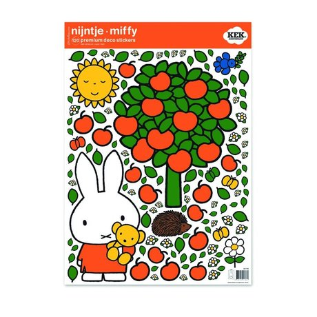 Kek Amsterdam Wall Sticker Miffy æble farverige vinyl M 42x59cm