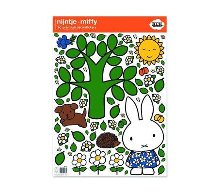 Kek Amsterdam Etiqueta de la pared Miffy grande multicolor árbol de 42x59cm de vinilo M