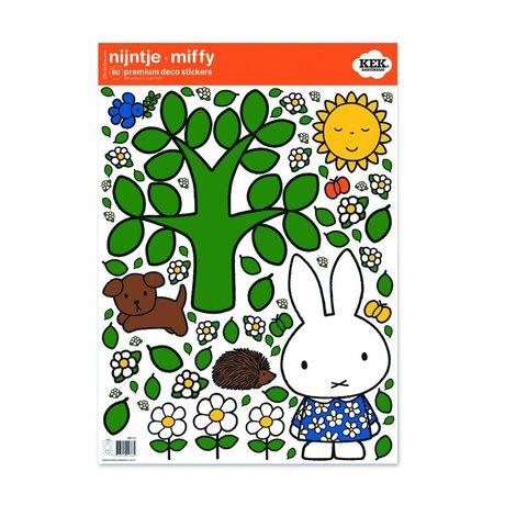 Kek Amsterdam Wandaufkleber Miffy große Baum Mehrfarbenvinylfolie M 42x59cm