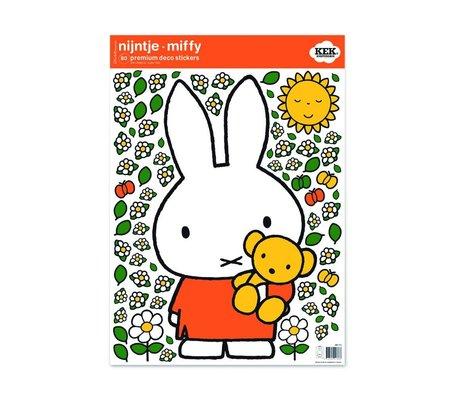 Kek Amsterdam Wandaufkleber Miffy Teddy bunte Vinylfolie M 42x59cm