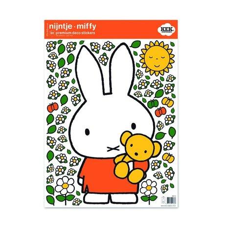 Kek Amsterdam Wall Sticker Miffy Teddy bunte vinile M 42x59cm